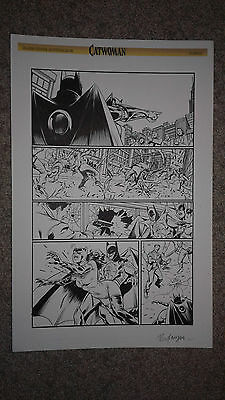 Randall CONVERGENCE CATWOMAN 1 pg 21 DEATH OF CATWOMAN to save BATMAN WOW