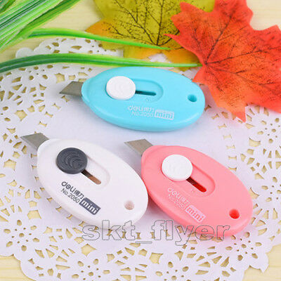 3pcs Mini Candy Portable Color Craft Knife, Trumpet Cutter Key String Art