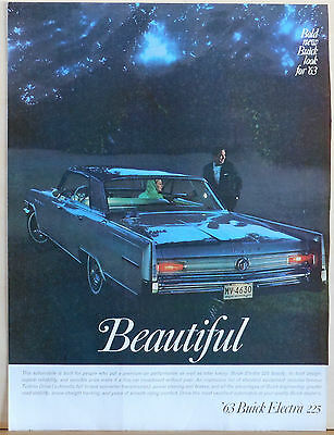 1962 magazine ad for Buick - 1963 Buick Electra 225, Bold new Buick look for '63
