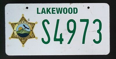 Scream TV Show Genuine Production Used Prop Licence / Number Plate Sheriff