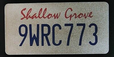 Scream TV Show Genuine Production Used Prop Licence Number Plate Shallow Grove