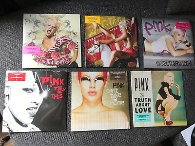 P!nk albums on limited colored Vinyl LP *mint* *Pink, I'm not dead, Funhouse etc