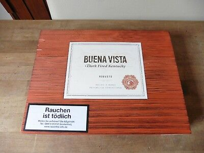 Buena Vista Dark Fired Kentucky Robusto Zigarrenkiste Leer Holz