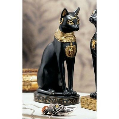 Egyptian Cat Goddess Bastet Feline Guardian of the Sun's Power Sculpture