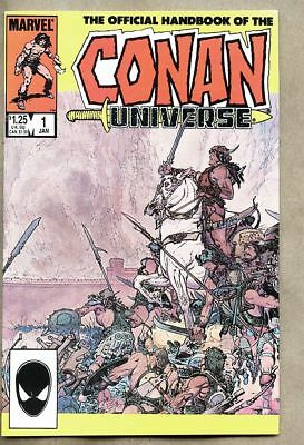 The Handbook Of The Conan Universe #1-1985 fn+ 6.5 Official Handbook Conan Unive