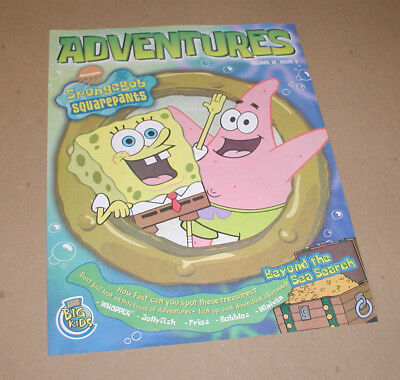 2001 Burger King Spongebob Squarepants Adventures Comic Volume 12, Issue 5