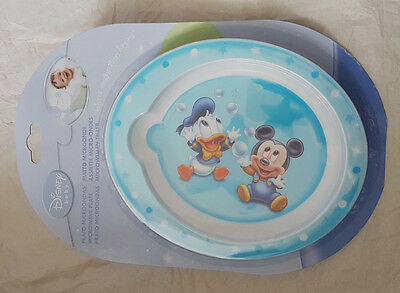 Disney Micke Mouse and Donald Duck Feeding Plate  4  Mths  New
