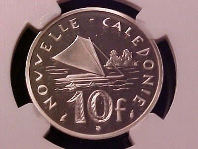 New Caledonia 10 Francs Silver Proof Piefort 1979 Pf-68 Ucam Ngc Superb