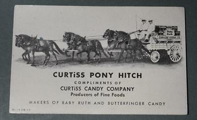 Vtg. INK BLOTTER w Ad - Curtiss Candy Co. Pony Hitch - Babe Ruth & Butterfinger