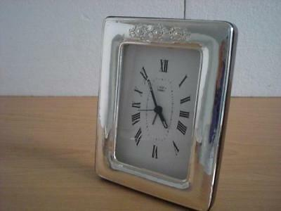 SOLID STERLING SILVER TABLE ALARM CLOCK 9×13*1012GB new