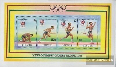 Nevis block18 (complete.issue.) unmounted mint / never hinged 1988 Olympics Summ