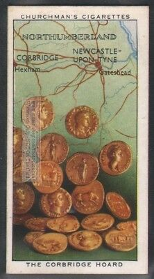 Ancient Roman Corbridge Gold Coin Hoard Britain 1911  80 Y/O Trade Ad Card