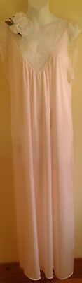 Vintage Nylon  Nightgown Avon Pink Softness Sz M Barely There PINK