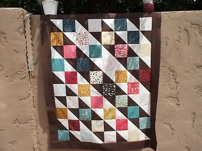 """My Pets Woof Woof Meow Puppy Dog Kitty Moda Cotton Quilt Top 42.5""""x52.5"""""""