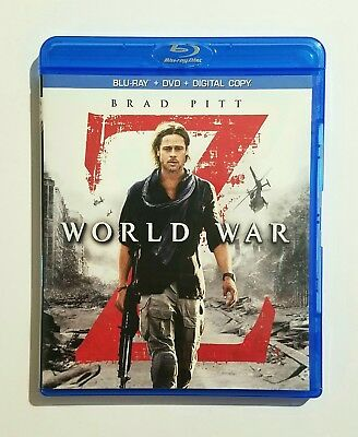 World War Z (2013) Like New Blu-ray + DVD Brad Pitt, Mireille Enos