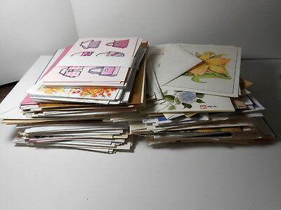 Lot 125 Greeting Cards w Envelopes Blank inside Assorted Sizes Themes Unused