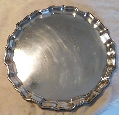 "Vintage Birks Regency  14"" Silver Plate Serving Tray"