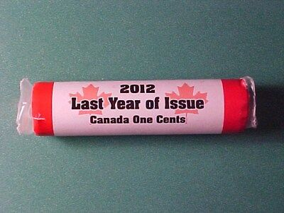 Canada 1 Cent Coins 2012 Last Issue Roll Rcm Royal Canadian Mint Non-Magnetic