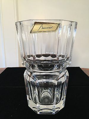 Rare Vintage Signed Baccarat French Crystal Moulin Rouge 7 Vase W