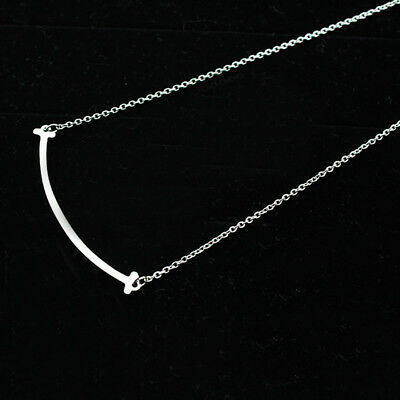 Hot Women Gold Lucky Smile Clavicle Chain Pendant Short Necklace Jewelry