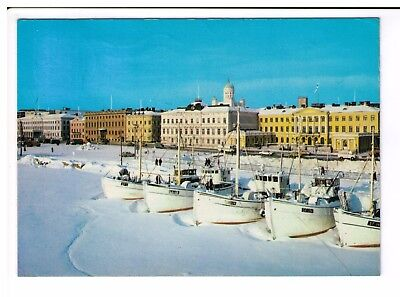 Postcard: The Market Place and the South Embankment, Helsinki, Finland