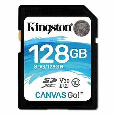 KINGSTON CANVAS GO SD 90MB/s Read 45MB/s Write 128 GB CLASS 10 U3 CARD st