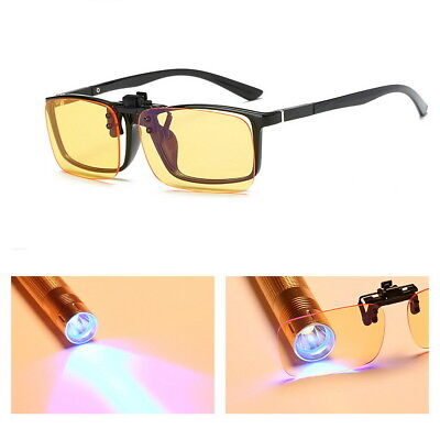 Clip On Lens Blocking Blue Light Reading Glasses Filter Eyewear Anti Glare