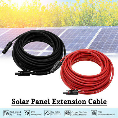 1 Pair 10/12AWG Solar Panel Extension Cord MC4 Connection Cable Line Connector