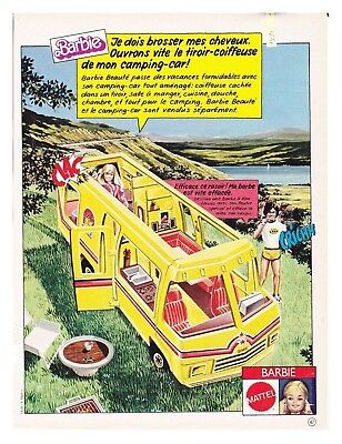 1980 : DOCUMENT (Ref CIM AL091 1481) : PUB POUPéE BARBIE CAMPING CAR 1page