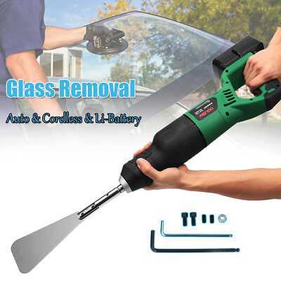 Cordless Auto Car Glass Windshield Removal Cut Out Tool Extractor + Li-Battery