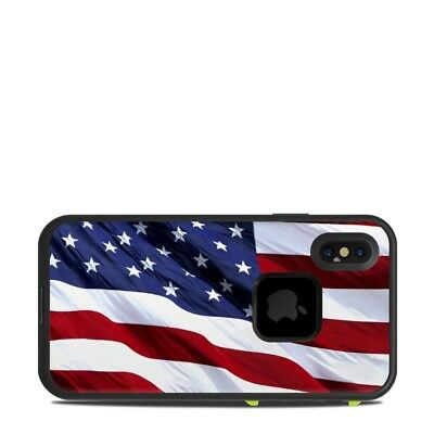 Skin for LifeProof FRE iPhone X - Patriotic by Flags - Sticker Decal