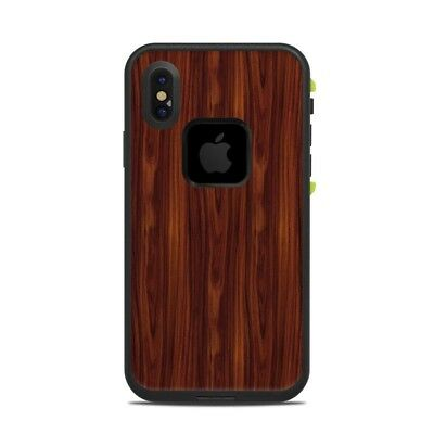 Skin for LifeProof FRE iPhone X - Dark Rosewood - Sticker Decal