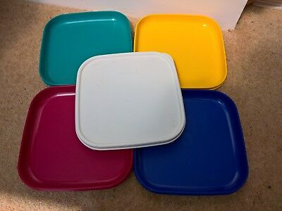 Tupperware Square Picnic Plates with lid