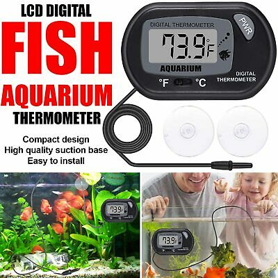 Latest Digital Lcd Fish Aquarium Water Tank Temperature Thermometer – Uk Stock
