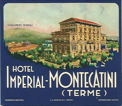 HOTEL IMPERIAL luggage RICHTER label (MONTECATINI TERME)