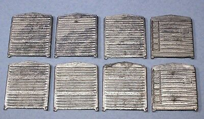 Lot of 8 S Scale Diecast Metal End Panels for Freight Boxcars
