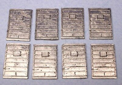 Lot of 8 S Scale Diecast Metal Doors for Freight Boxcars