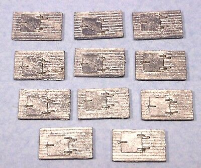 Lot of 11 S Scale Diecast Metal Rooftop Hatches for Freight Boxcars