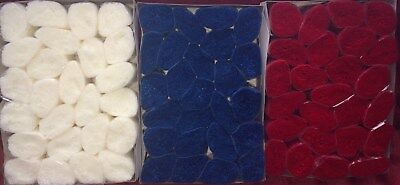 75 packs latch hook yarn, Red, White & Blue  Use on Zweigart 5hpi canvas