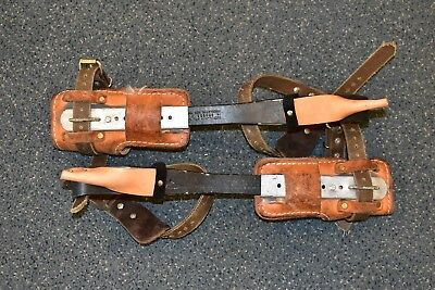 Buckingham Climbing Spikes Spurs w/ 3122 Pads Pre-owned Free Shipping