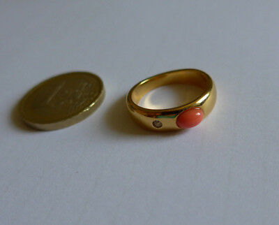 Ring Gold farbige gr -ca 17,0mm