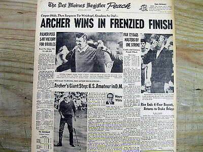Best 1969 newspaper GEORGE ARCHER wins MASTERS GOLF CHAMPIONSHIP Weiskopf is 2nd