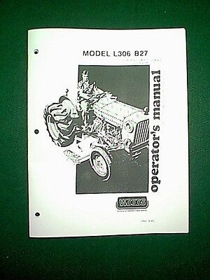 WOODS MOWER DECK L306 B27 For Bolens Iseki Tractors 272 & 274 2702 & 2704  Manual