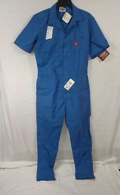 DICKIES Blue Jump suit COVERALLS mens 42 L Large Tall Long SHORT SLEEVE NWT