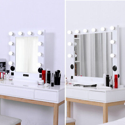 Large Bluetooth Speaker Vanity Makeup Mirror Led Lighted Tabletop Wall Mounted