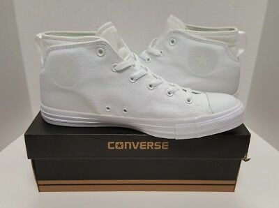 Wh Mens Womens Unisex Converse Chuck Taylor All Star Street Mid Casual Shoes
