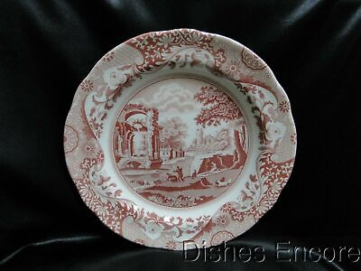 "Spode Italian, Cranberry / Red Scene, No Trim: Dinner Plate (s), 10 1/2"", NEW"