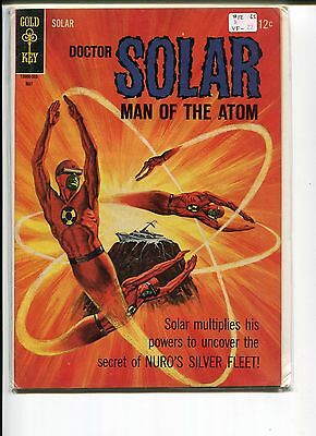 Doctor Solar Man Of The Atom 12 Vf-  Painted Cover  1965