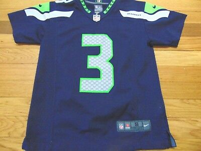 separation shoes 7820a 60b60 NIKE NFL ON Field Seattle Seahawks Russell Wilson Jersey Size Youth S