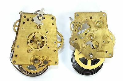 LOT of TWO VINTAGE GERMAN and USA NOVELTY CLOCK MOVEMENTS - PARTS/REPAIR KC587
